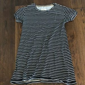 Stripped tee shirt dress